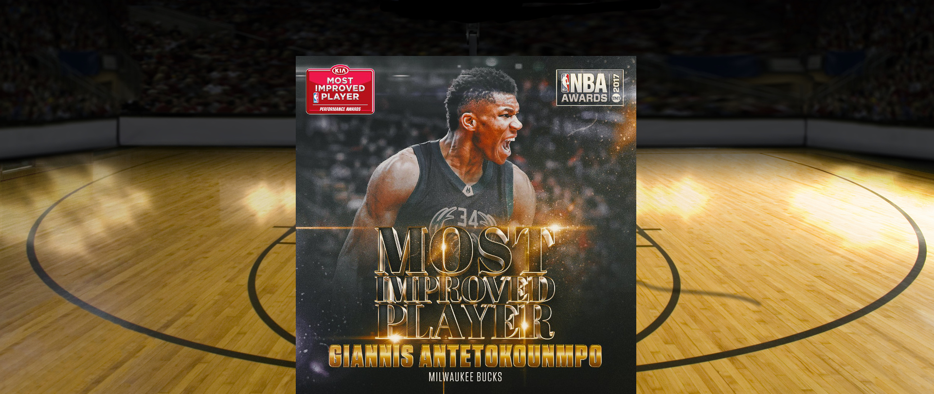 Antetokounmpo wins NBA's Most Improved Player award