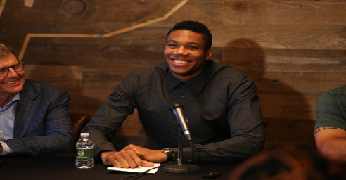 Antetokounmpo press conference after $100 million contract extension